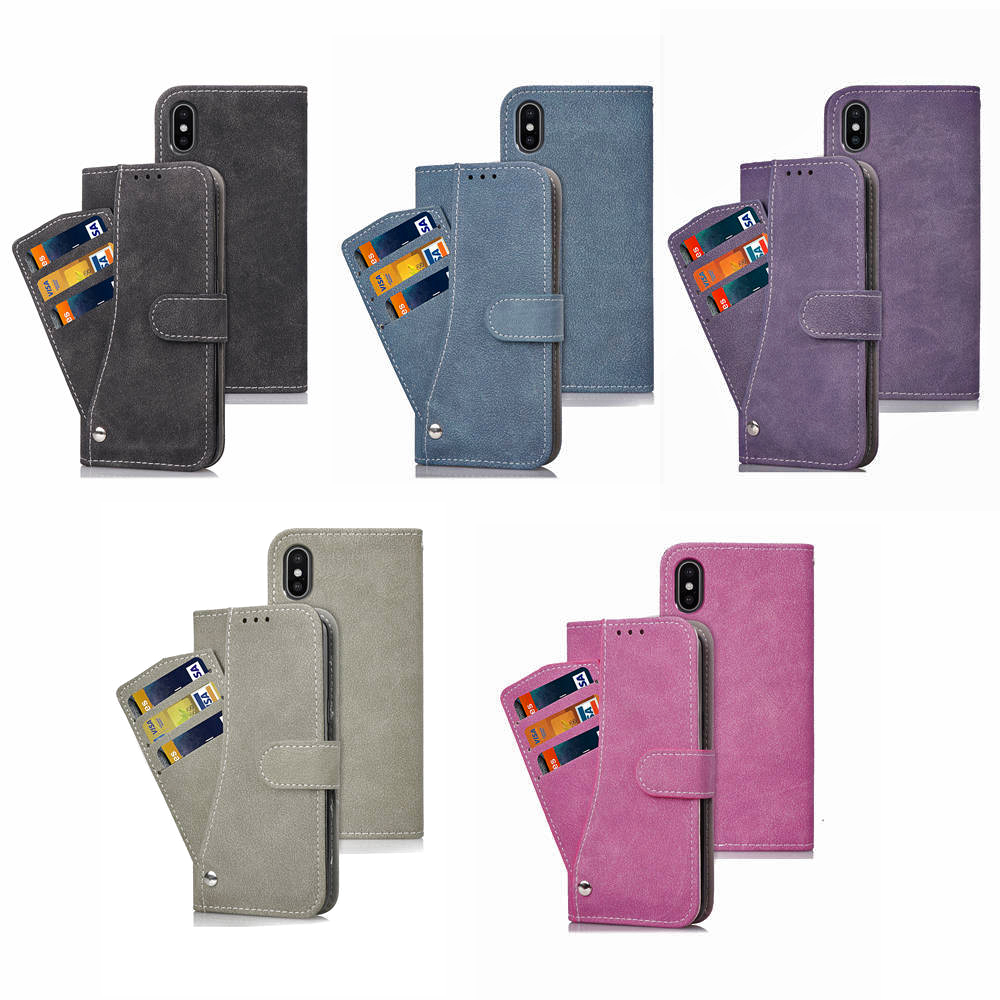 Phone <font><b>Case</b></font> Phone holder Matte Flip <font><b>Case</b></font> Phone Shell With <font><b>Card</b></font> Pocket for iphone 6 <font><b>iphoneX</b></font> iphone 8 with 5 color options image