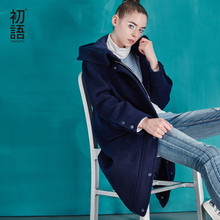Toyouth 2017 New Arrival Women Casual Wollen Coat Autumn Pockets Button Zippers Turn-down Collar Wollen Coat