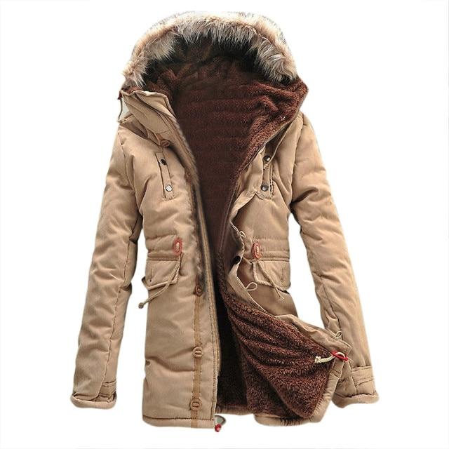 Aliexpress.com : Buy Winter Warm Fleece Parka Dreadnought Trench ...