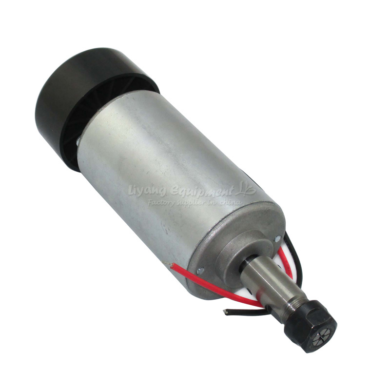 CNC milling maching parts air-cooled DC motor cnc spindle motor 300w DC12-48V 12,000 rpm