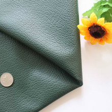 Faux Leather Fabric Sheets DIY Patchwork PU Synthetic Pure Color Hunter Green Printed Sewing Quilting Material