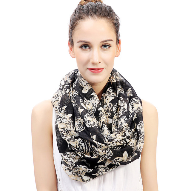 Tiger Animal Print Infinity Loop Scarf Snood Women s Gift Winter Accessories  Soft Lightweight 06459cd14
