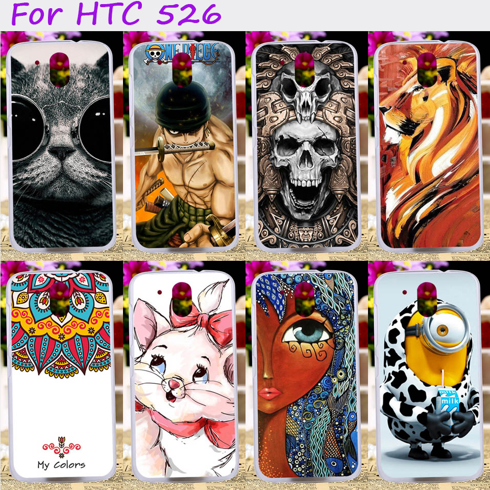 TAOYUNXI Hard Plastic Soft TPU Phone Cover For HTC Desire 526 326 526G 526G 326G Cases