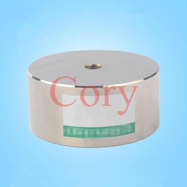 1PCS Round Cylindrical Electromagnet Solenoid 10mm Stroke 800KG/800N Force dc24v 1a 10mm stroke 150g froce spring load electric solenoid electromagnet xwj