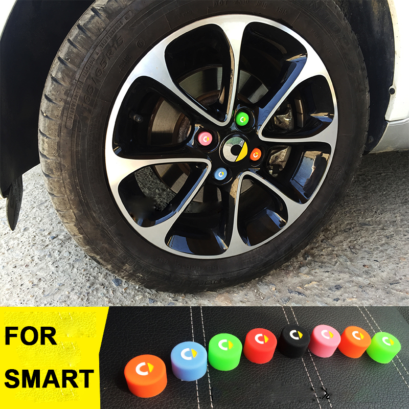 4 Smart Wheel Hub Cover Hub Caps Cap Cover Fortwo 453 for Aluminium Smart New