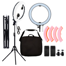 600 pcs LEDs Studio Ring Light 36W 5500K Photographic Lighting Stepless LED Video Light With Yellow Color Cover 1.8M Light Stand yidoblo pink fd 480ii studio ring light 480 led video light digital lamp photographic day lighting light standing ma 280cm