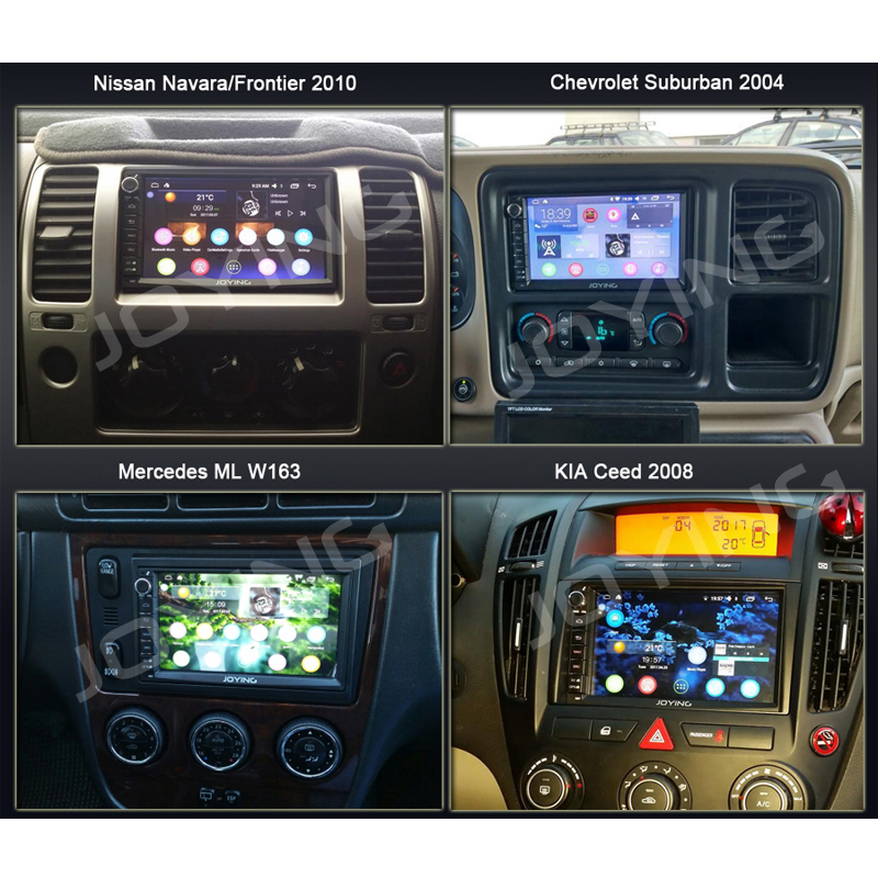 JOYING 2 din Android 8.1 Car radio GPS Octa Core 1024*600 4GB+64GB stereo audio 7