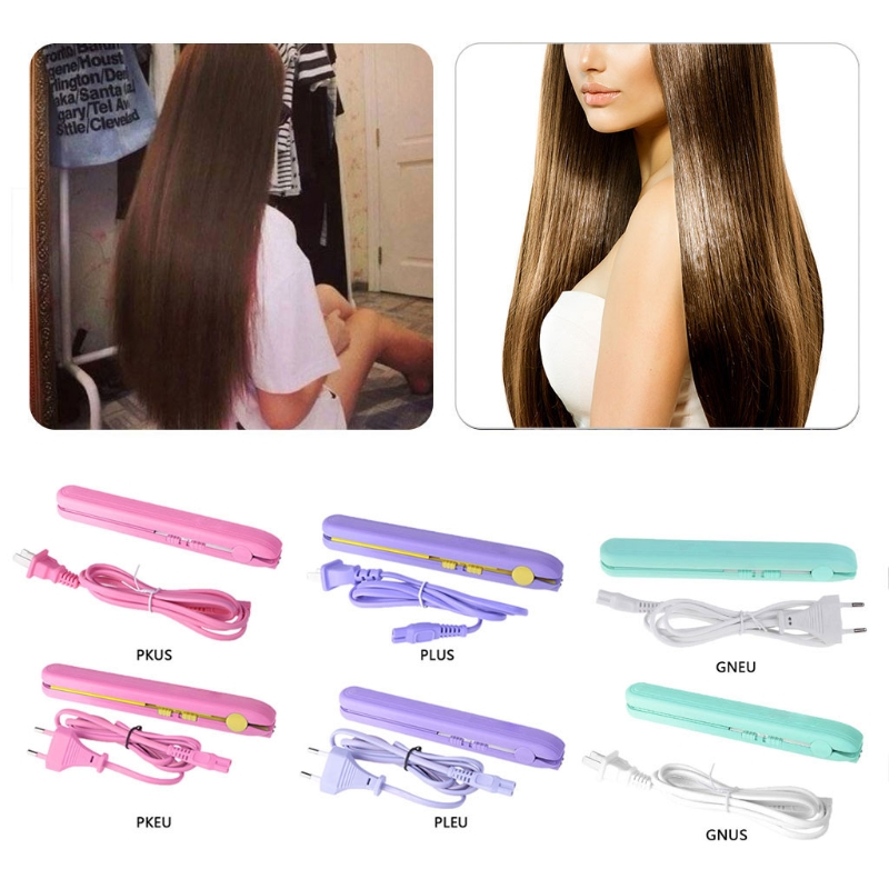 High Quality Mini Portable Straightening Irons Travel Ceramic Plate Flat Cordless Hair Straightener Curler Stylee недорого