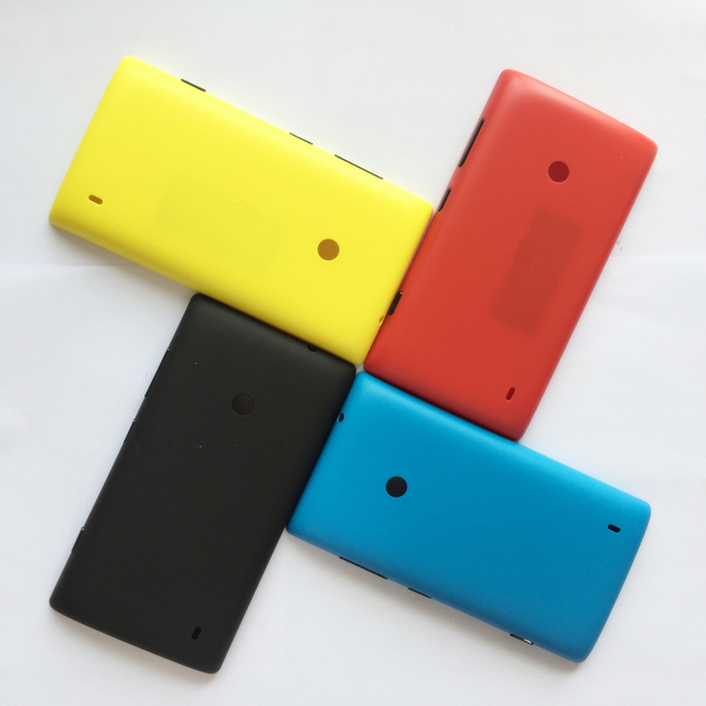 the latest ad787 899f4 US $2.99 |Less But Better For Nokia lumia 520 Back Cover Original Battery  Cover Case Rear Housing Capa with side key -in Mobile Phone Housings from  ...