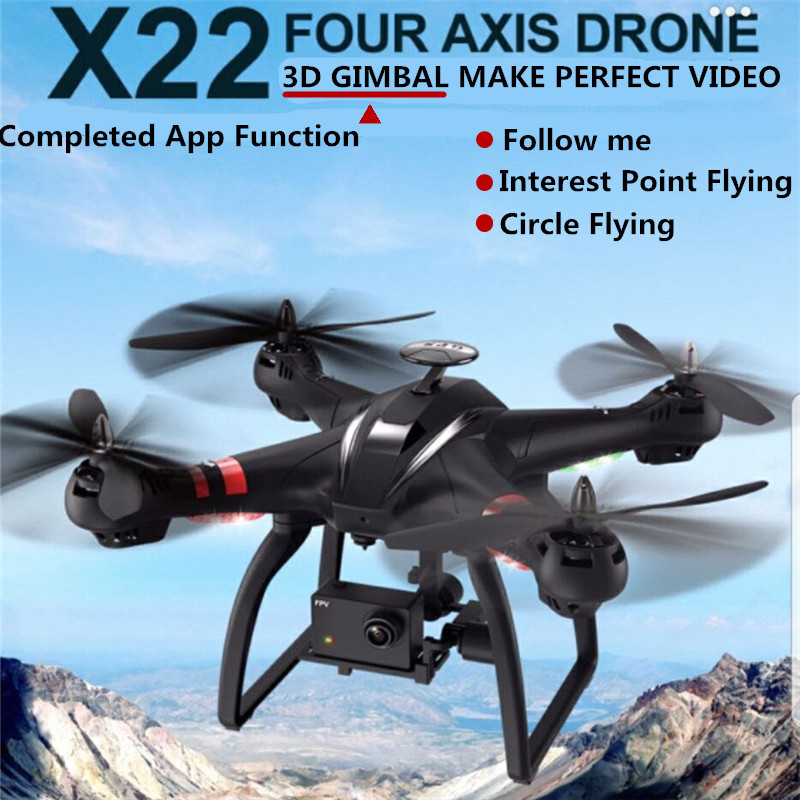 Pre sales Bayang X22 Dual GPS RC Drone Brushless Motor 1080P FPV HD Camera With 3D Axis Adjustable Gimbal Follow Me Mode