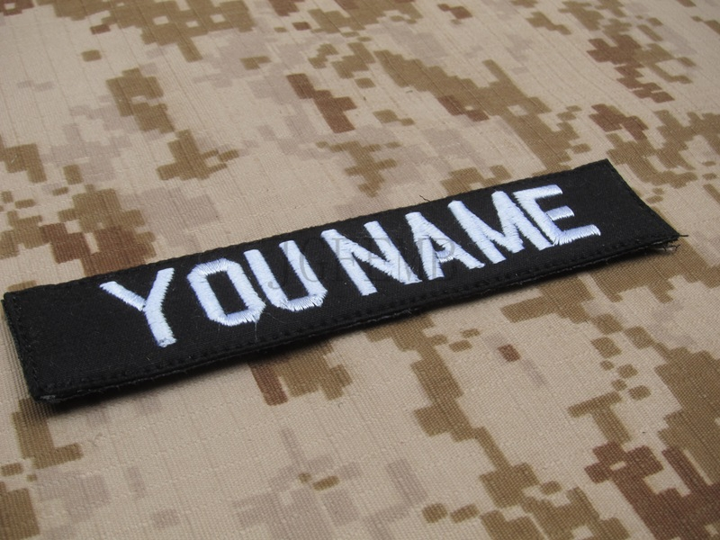 US $4 48 31% OFF|Black Custom Name tapes Chest Tapes Services Tapes morale  tactical military Embroidery patch Badges-in Patches from Home & Garden on