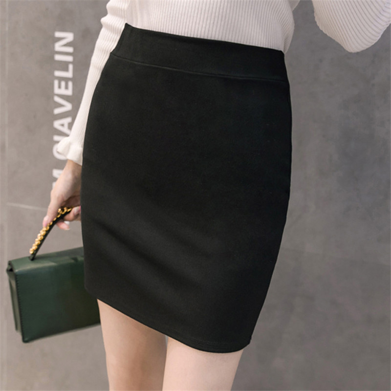Ol Skirts Womens Elegant Women Bodycon Skirt Women High Waist Mini Skirt Plus Size Woman Black Skirts 4xl Faldas Mujer Moda 2019