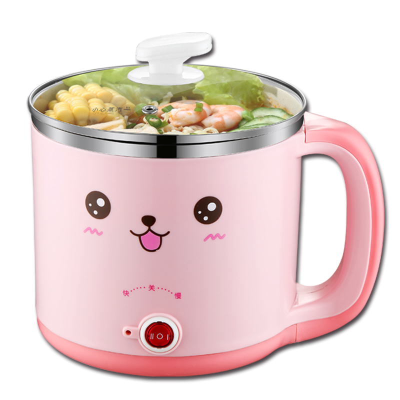 Portable Electric Multi Cooker with Steamer Mini Non-stick Frying Pan Egg Boiler Hot Pot Hotpot Porridge Noodle Cooker 130usd frying pan multi function household pot student dormitory artifact mini electric cooker noodle baile li 9 9