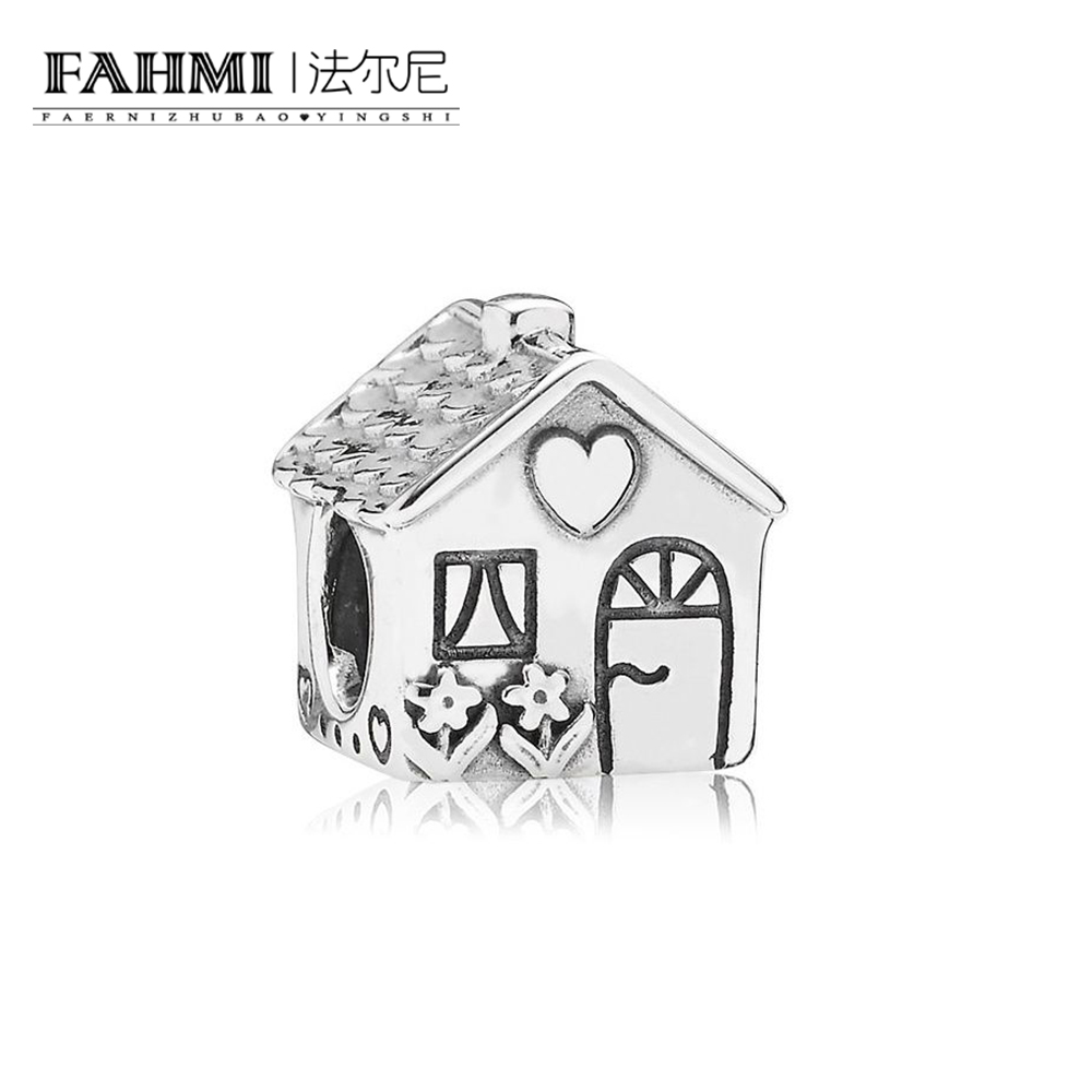 FAHMI 100% 925 Sterling Silver 1:1 Authentic 791267 Family home silver charm CHARM Bracelet Original Women JewelryFAHMI 100% 925 Sterling Silver 1:1 Authentic 791267 Family home silver charm CHARM Bracelet Original Women Jewelry