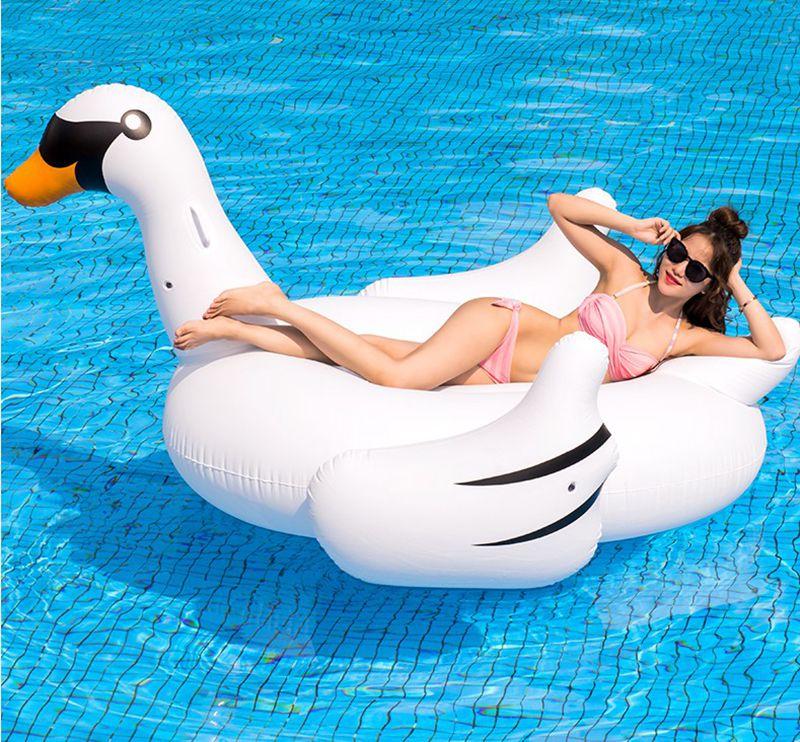 Haute qualité! 75 pouce 1.9 M Géant Swan pool flotteur Tour-Sur Piscine Jouet Flotteur, Livraison gratuite!