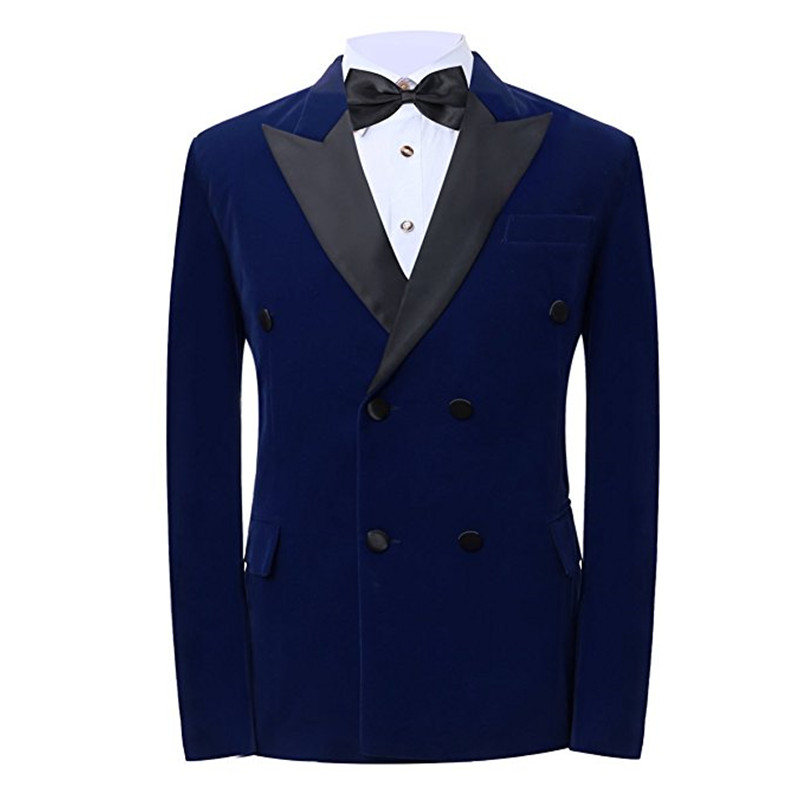 Costumes costume veste hommes formel mariage velours matériel marié veste hommes revers veste personnalisé