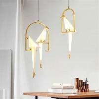 PostModern Bird Acrylic LED Pendant Light Lighting Pendant Lamp Bedroom Living Room Hanging Lamp Luminaire Loft Kitchen Fixtures