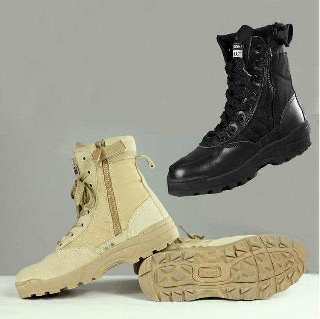 Homens Botas Militares Delta Tático SWAT Deserto Botas de Combate Americanas Sapatos Ao Ar Livre Botas tamanho 39-45