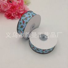 New Ribbon Webbing 2.5CM Wide DIY Digital Printing Clothing Shoes Accessories Decorative Blue Bottom Plum Series Thread