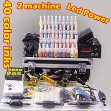 YLT-111 полный Профессиональный набор для татуировок комплект тату-машинки Перманентный макияж пулемет