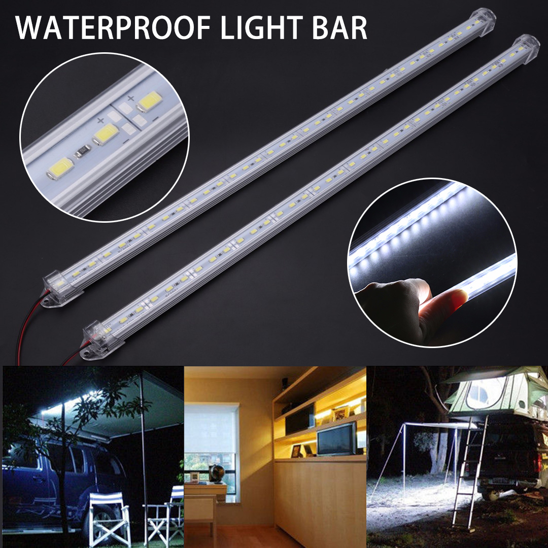 2X New 50cm Cold White Car LED Strip Light 5630 36 LEDs Car Interior Strips Lamp Bar for Van Caravan Trailer Boat Lights DC 12V 12v 75 led white light strip 50cm page 9