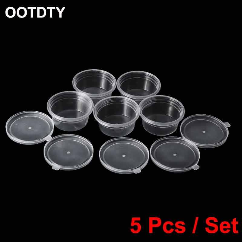 5Pcs 60ml Storage Container Organizer Boxs For Light Clay Playdough Foam Slime Mud