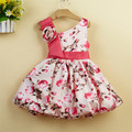 New arrive baby girl flower dress Baby girl wedding party dress print floral dress  L9319XZ