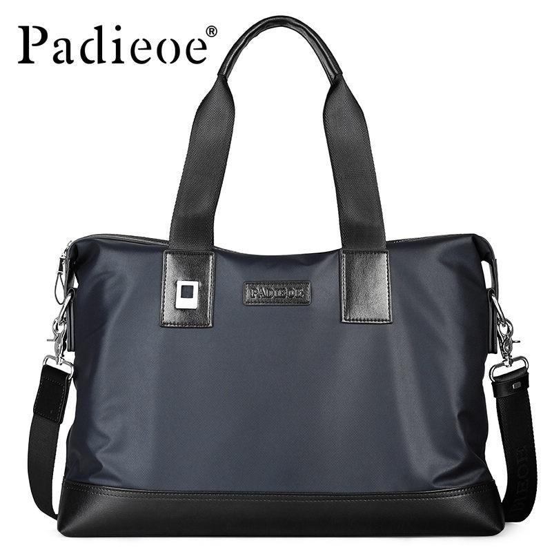 Padieoe Brand Handbag Men Briefcase Canvas Shoulder Bags Business Casual Travel Laptop Bag Tote Bag Mens Messenger Bag Free Ship