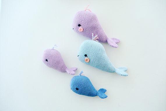 Crochet Toys  Amigurumi  Whale Family.