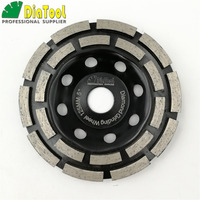 5 Inches Metal Bond Diamond Double Row Grinding Cup Wheel 125MM Grinding Disc Bore 7 8