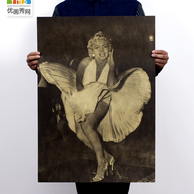TOP COOL -  Marilyn Monroe poster  vintage retro print art- HOME bar coffee house Decor ART- free shipping cost