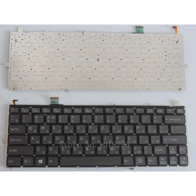 Russian RU Keyboard for sony vaio Duo 13 SVD13 SVD1321Z9EB SVD13215PXB SVD132A14L SVD13228SCW Laptop Backlit keyboard автомобильные колонки 13 см sony xs fb1320e z