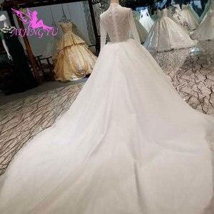 Image 5 - AIJINGYU, vestido de novia brillante, vestidos de novia, tallas grandes reales, encaje cerca de mí, fabricante de trajes, vestidos de boda de verano