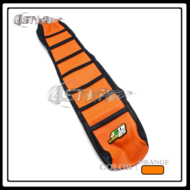 Rubber Striped Motorcycle Soft-Grip Gripper Soft Seat Cover For KTM XC SX EXC SX-F 65 85 105 125 144 150 200 250 300 450 500 530 motorcycle soft grip gripper soft seat cover for benelli leoncino 500 bj500