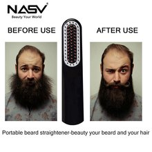 Mini Beard Straightener Comb for Travel/Home USB Rechargeable Electric With Anti Scald Hair Styling Accessory Woman&Man