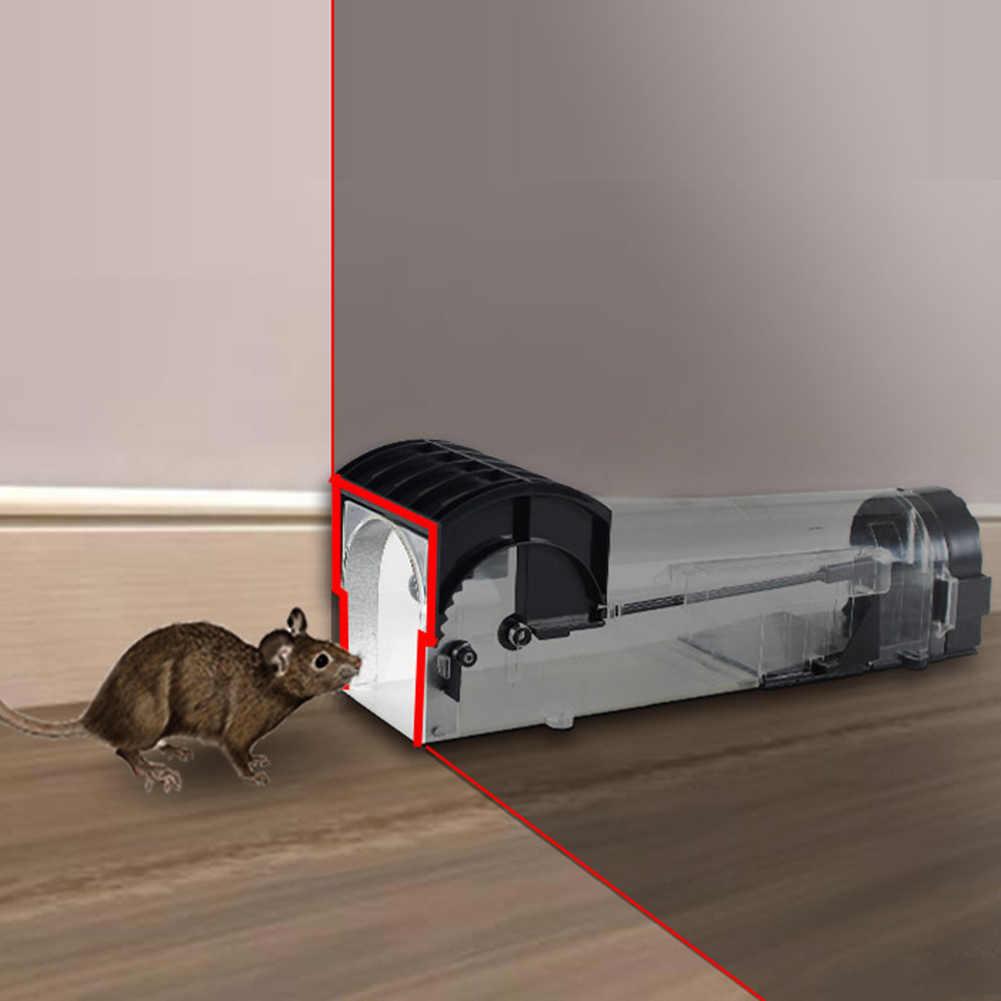 חכם הומני לחיות עכבר מלכודת אין להרוג בעלי חיים חיות מחמד כלוב שליטה לשימוש חוזר עכברים מכרסמים לוכד אוטומטי נעילת מלכודת עכברים מלכודות
