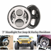 12V 24V 7 50w LED Fog Light Projector H4 Socket LED Headlight Headlamp for Jeeep Wrangler JK CJ TJ LJ 4x4 Harley Motorcycle