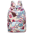 High Quality College badge Canvas Backpack For boys Girls Satchel Rucksack book bags