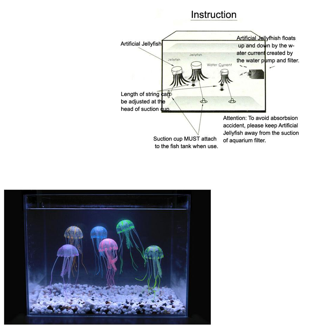 hight resolution of package content 1 x artificial jellyfish