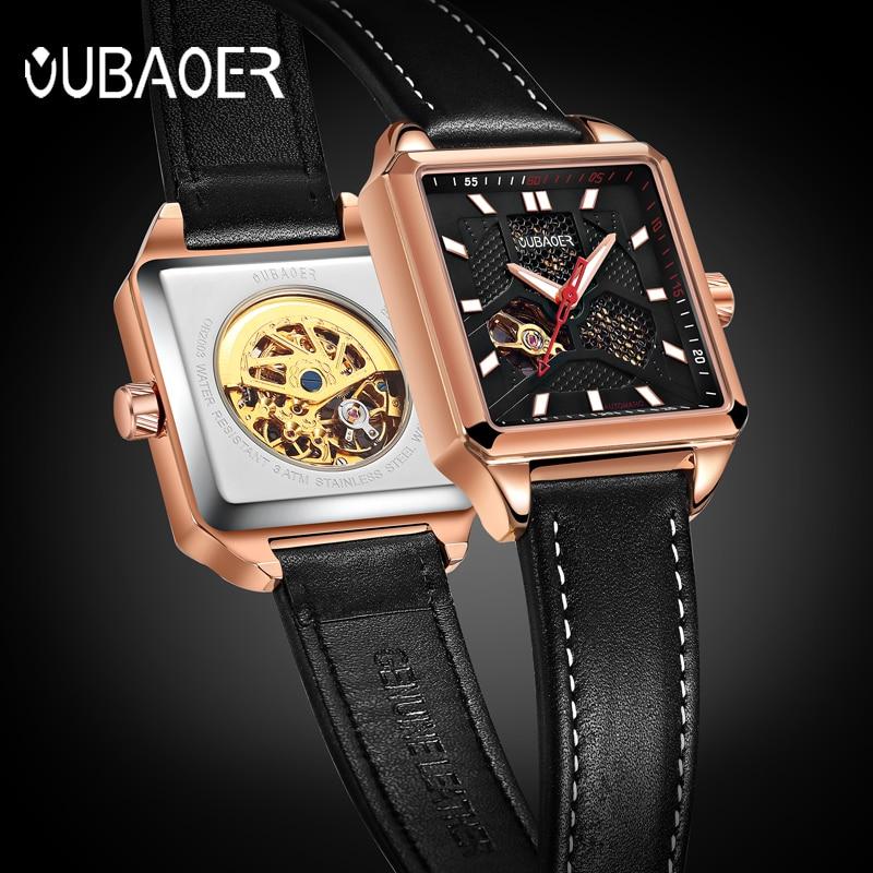 OUBAOER Men s Sports Automatic Watch Men Top Brand Luxury Designer Mechanical Watch Man Gold Clock