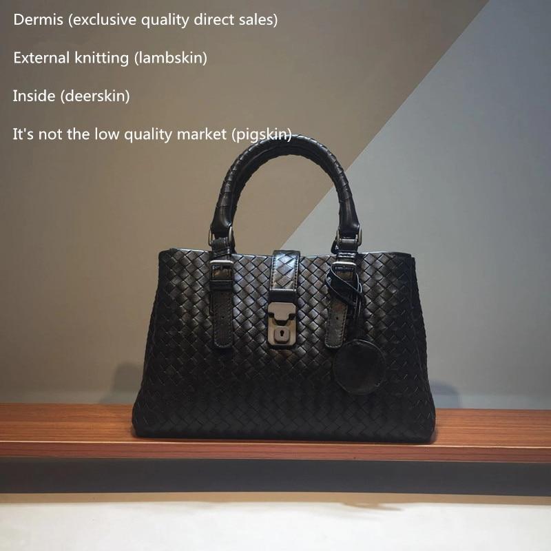 L Eternal2018 Handbag The single shoulder bag Woman Woven  High-quality Sheepskin Internal and external dermis High-capacity