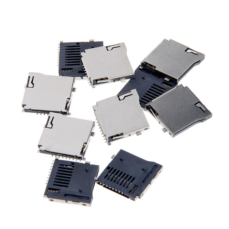 10pcs-push-push-type-transflash-tf-micro-sd-card-socket-adapter-automatic-pcb-connector