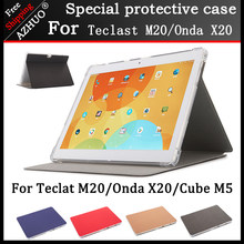 Front ondersteuning stand cover case Voor Teclast M20 Onda X20 Cube M5 10.1 inch tablet Anti-drop case voor jumper EZpad M5(China)