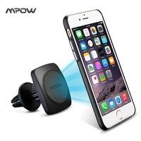 MPOW MCM11B Suporte Universal Magnetic 360 Graus de Ventilação de Ar do Carro montar Titular + 2 Placa de Metal Adesivo para iPhone etc telefones celulares