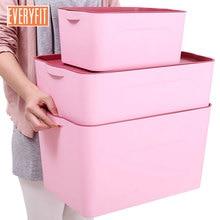 Eo-Friendly пластиковые ящики для хранения bin с крышками хранения игрушечные закуски Одежда Организатор разное Коробка Косметическая коробка для хранения