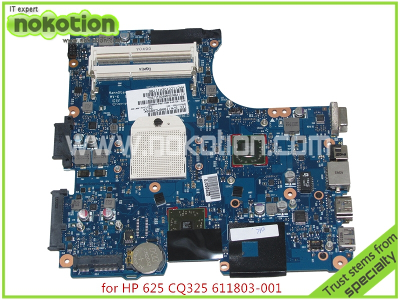 NOKOTION mainboard 611803-001 for HP COMPAQ CQ325 325 425 625 laptop motherboard HD4200 Graphics DDR3 free cpu top quality for hp laptop mainboard 574508 001 4410s 4411s 4510s 4710s laptop motherboard 100