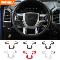 Car Styling Steering Wheel Decorative Trim Car Steering Wheel Cover For Ford F150 2015