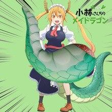 Mew большой размер 60 см аниме Kobayashi-san Chi no Maid Дракон плюшевая игрушка мягкий хвост дракона Подушка Косплей Кукла Дети Девочки Подарки