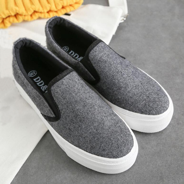 Spring 2017 Loafer shoes women canvas shoes women casual shoe platfrom non-slip soles outdoor footwear good quality zapatos