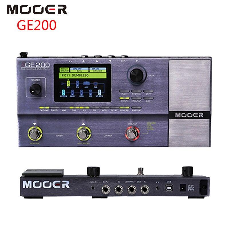 MOOER GE200 Amplificateur Modélisation et Multi-effet Guitare Pédale D'effet